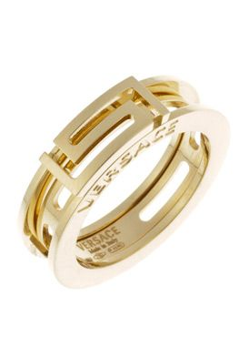 Versace Jewelry for Men | Versace FTV1111F00-9.25 Jewelry,18k Gold Cut-Out Ring, Men's Versace ...