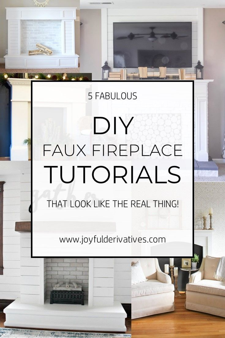 How to Build a Faux Fireplace / Faux Mantle / Fake Fireplace / Fake Mantle / Renter Decorating Idea