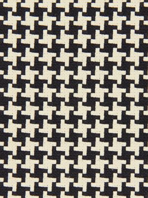 Black Houndstooth Fabric - Woven Heavyweight Cotton - Home Decor Geometric - Furniture Material - Headboard Fabric - Black Ivory Fabric