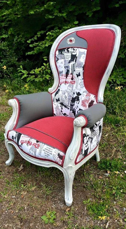 les 90 meilleures images du tableau fauteuils tapisserie. Black Bedroom Furniture Sets. Home Design Ideas