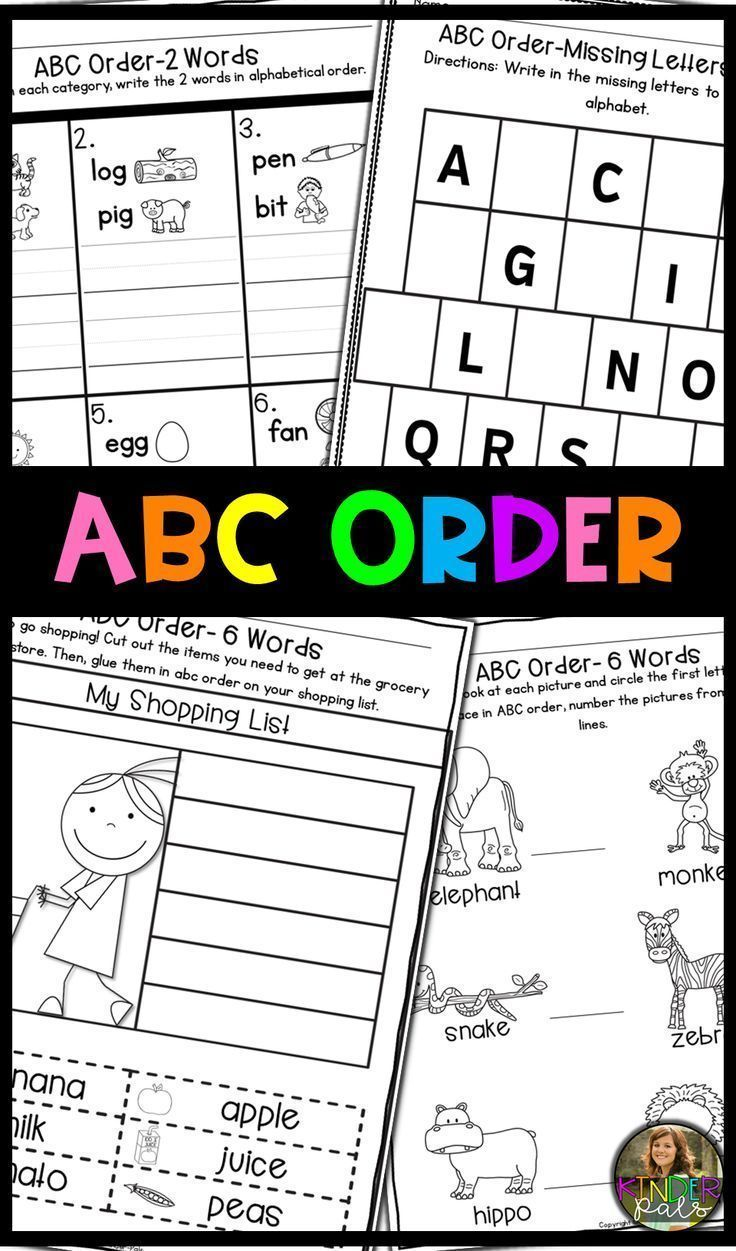 Help Your Kindergarten And 1st Grade Students Practice Abc Order These Printables Reinforce The Skill And Progress Abc Order Worksheet Abc Order Learning Abc