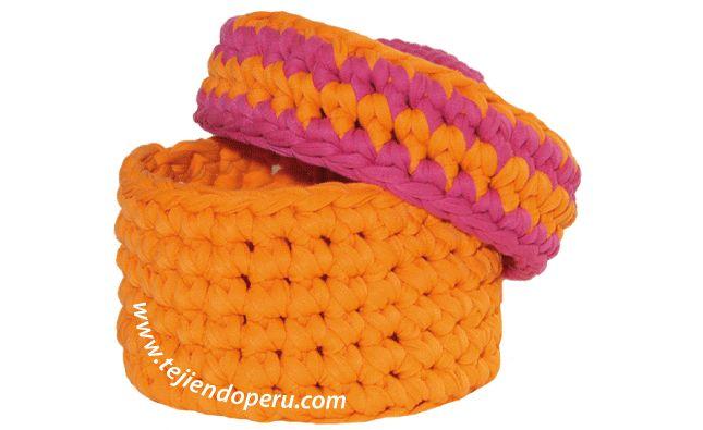Canasta en Crochet XL con Trapillo Patrón y Videotutorial en Español
