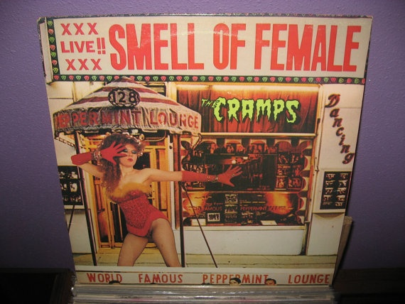 ANNIVERSARY SALE Rare Vinyl Record The Cramps - Smell of Female LIVE Ep/Lp 1983 Punk Psychobilly Lux Interior