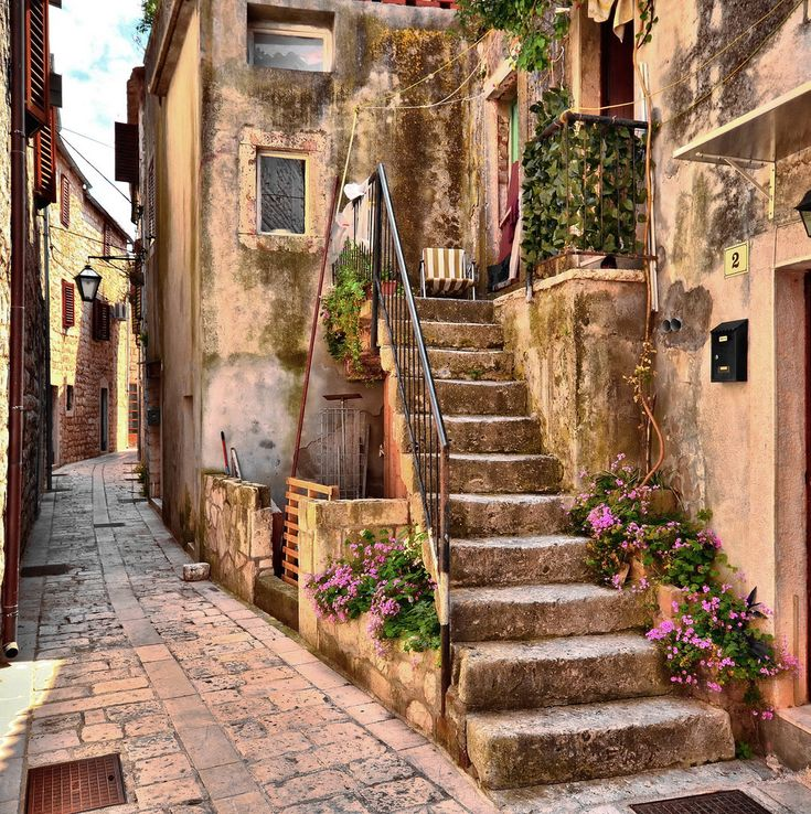 Old Town Stari Grad on de northern side of de island of Hvar in Dalmatia_ Croatia