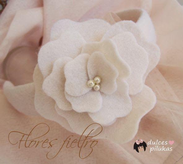 Flor de fieltro para decorar una diadema o lo que quieras   Aprender manualidades es facilisimo.com