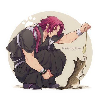 【刀剣乱舞】猫と遊ぶ蜻蛉切