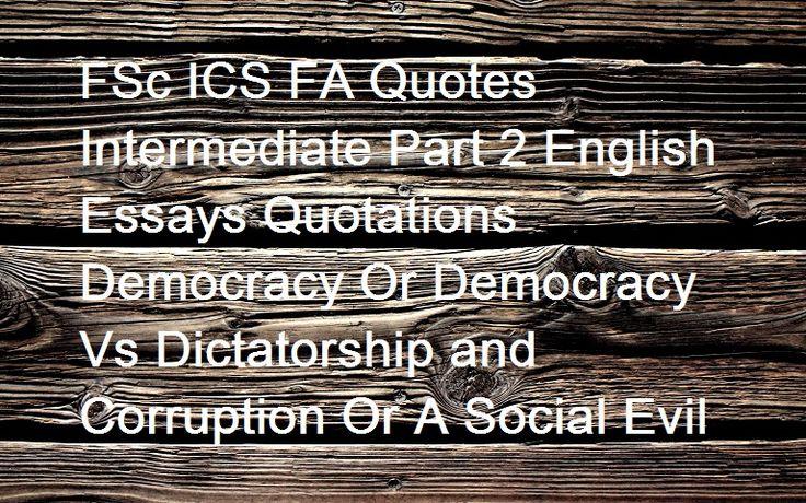 corruption and democracy essay