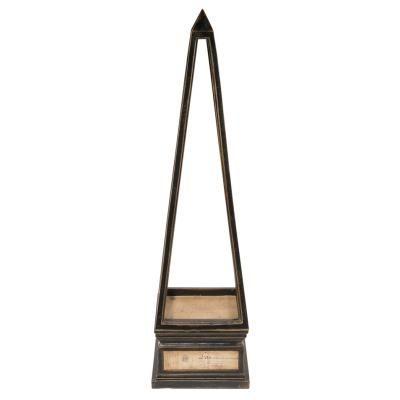 Wood Obelisk  Black