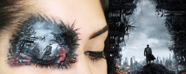 Maquillage impressionnant de l'affiche de #StarTrekIntoDarkness sur une paupière !