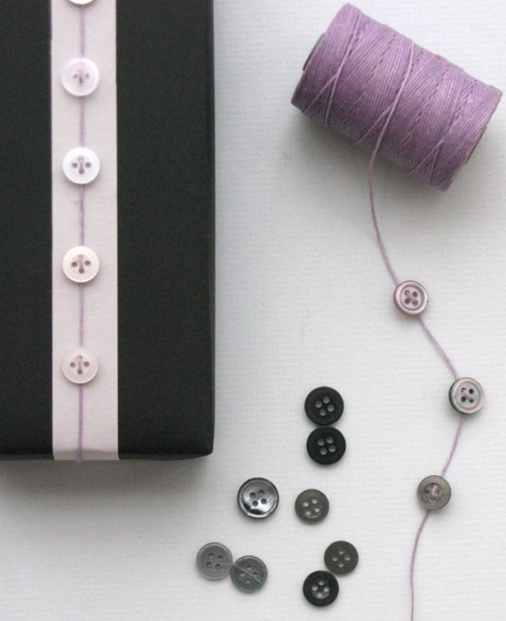 why doesn't anyone do buttons on giftses?- martha stewart crafts get credits.