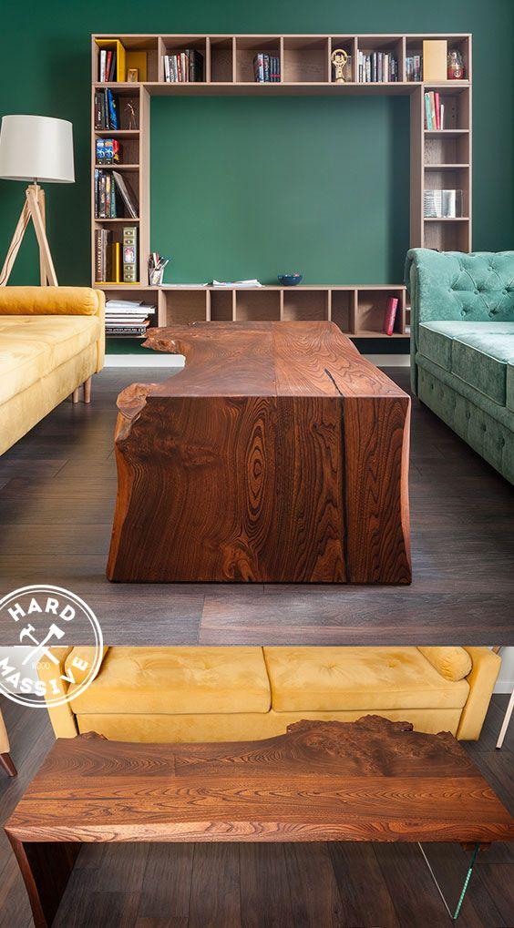 журнальный столик из дерева и стекла стильный журнальный столик