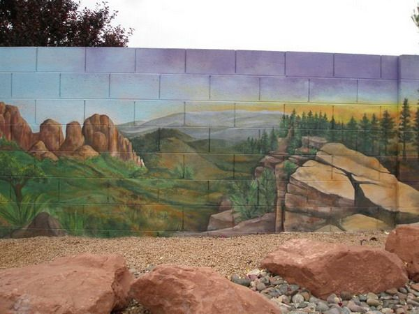Outdoor wall murals patio garden wall murals design patio wall murals decorating ideas - Waterproof exterior wall paint image ...