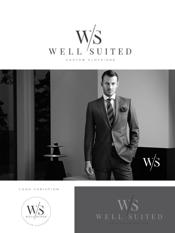 In this design I wanted to accomplish that simple, masculine elegance of a fine custom-tailored suit. I wanted the logo to compliment the beauty and the exclusivity of the clothes.  I opted for a classic serif font as the main font. For the colors I chose 2 grey shades that give a warmer feel than the black.