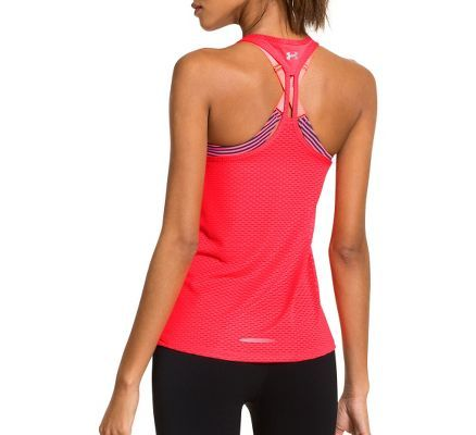 Womens Under Armour UA Fly-By Stretch Mesh Tank Technical Tops at Road Runner Sports