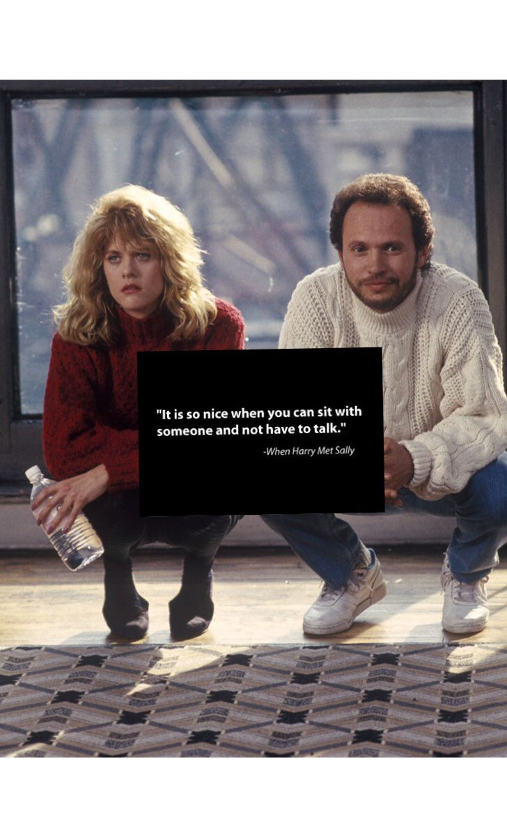 It's so nice when you can sit with someone.. ~ When Harry Met Sally (1989) ~ Movie Quotes #amusementphile