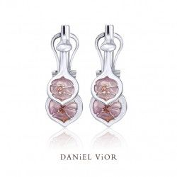 Zilveren oorknoppen #lunaria #danielvior #barcelona #silver #earrings #enamel #zilver #emaille