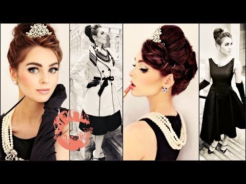 Breakfast At Tiffany's Makeup, Hair & Style Tutorial | Jackie Wyers – YouTub…