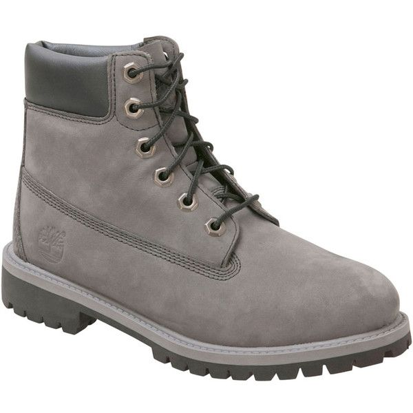 Timberland Women's 6-Inch Premium Waterpoof Grey Winter Boot ($110) ❤ liked on Polyvore featuring shoes, boots, timberland, botas, grey, lightweight boots, grey shoes, water proof winter boots, lightweight waterproof shoes and lightweight waterproof boots
