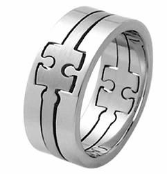 3 Piece Puzzle Ring Size 12