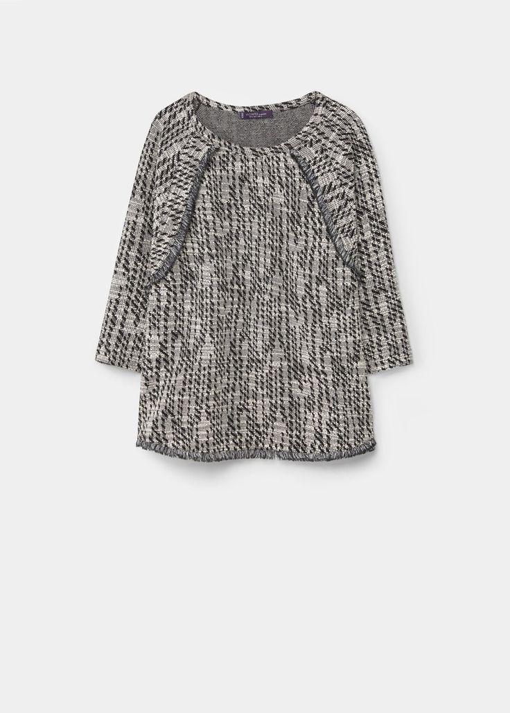 Bawełniana bluza z teksturą