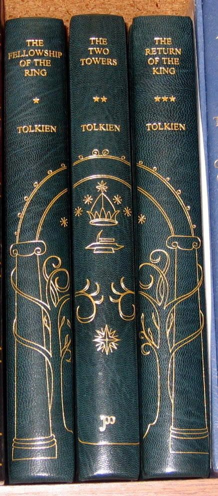 Lord of the Rings trilogy.  I would love to have this leather-bound set.