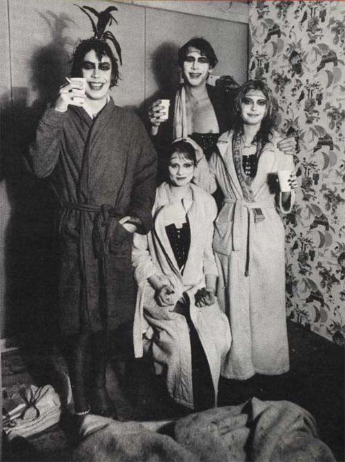 """Rocky Horror Picture Show, Tim Curry, """"Little"""" Nell Campbell, Susan Sarandon and Barry Bostwick"""