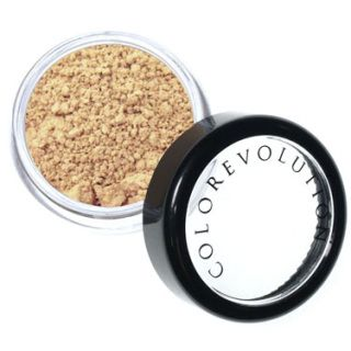 The Colorevolution Porcelain foundation has a cool, pink base and is great for fairer skin tones. It's soft and luxurious application will leave your skin glowing and radiant. This foundation is 100% natural mineral and only has 3 natural earth ingredients.