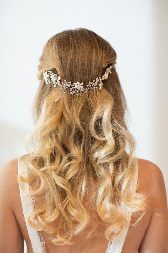 Boda accesorio de novia Vine Vine de pelo por PowderBlueBijoux                                                                                                                                                                                 More