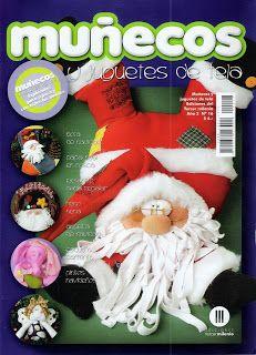 TODAS LAS REVISTAS DE MANUALIDADES GRATIS: Muñecos y juguetes de tela Navidad