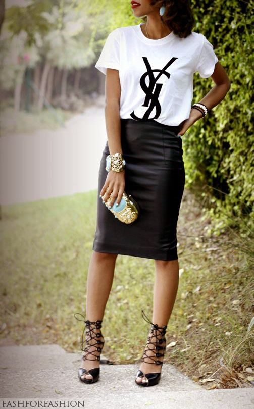 138 best Leather Pencil Skirt images on Pinterest | Leather pencil ...