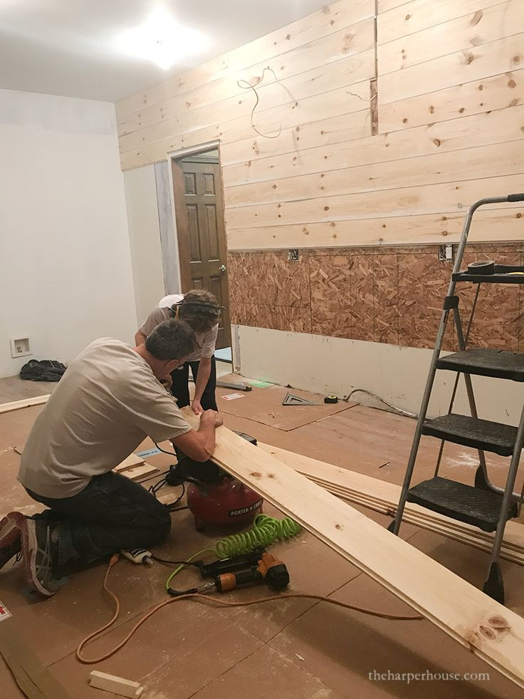 Kitchen Remodel – Adding a Shiplap Wall