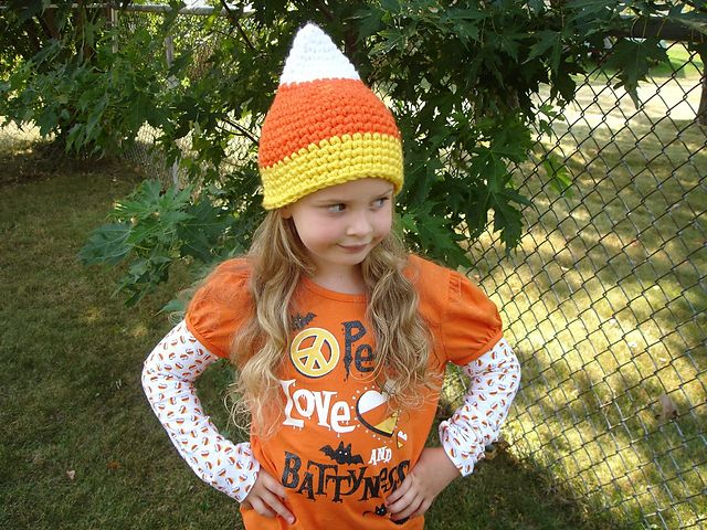 Ravelry: FREE Candy Corn Hat pattern by Crochet by Jennifer