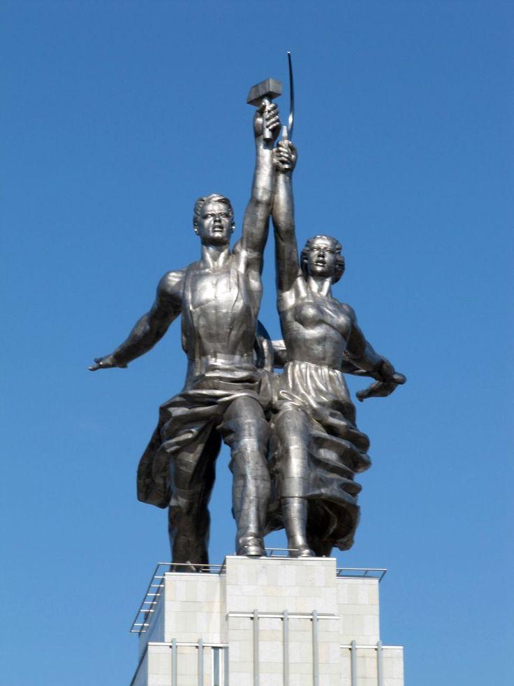 worker peasant soviet sculpture