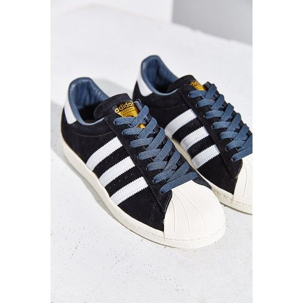 adidas Originals Superstar 80s Deluxe Sneaker ($110) ❤ liked on Polyvore  featuring shoes,