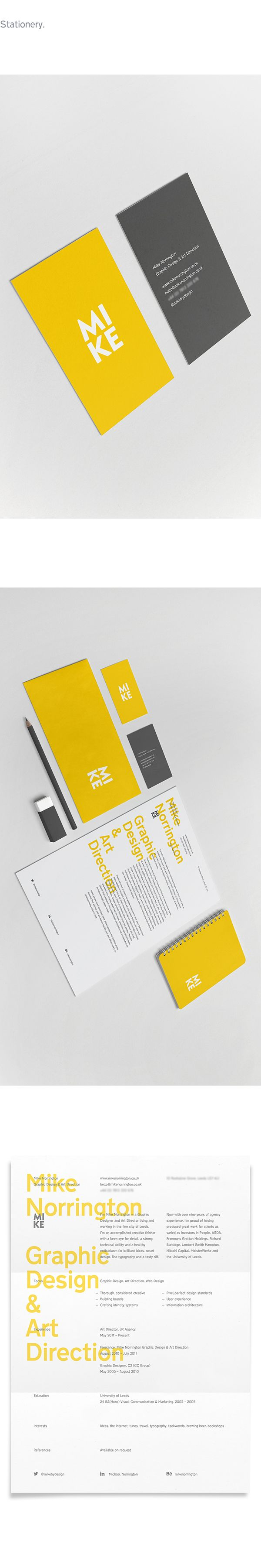 MIKE: a very personal identity by Mike Norrington, via Behance