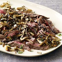 WW recipe - Flank steak with mushrooms and rosemary