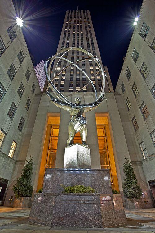 Atlas statue, Rockefeller Center, NYC