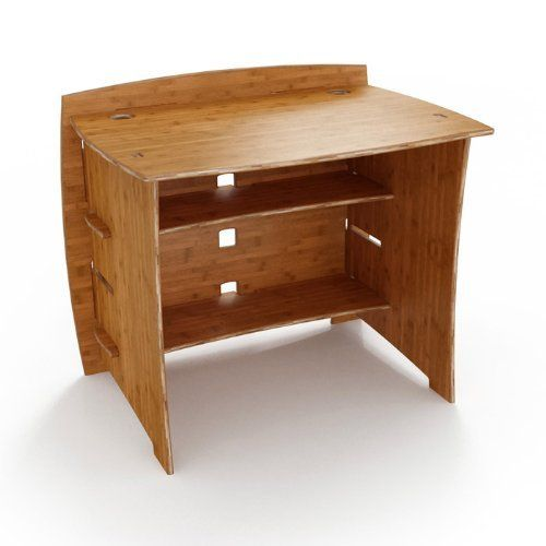 Bamboo compact desk 36 w carbonized amber finish by legare legare furniture - Basic facts about carbonized bamboo furniture ...