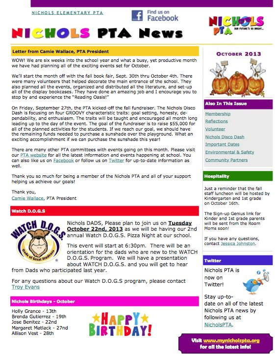 Classroom Newsletter Ideas ~ Best images about pta on pinterest newsletter