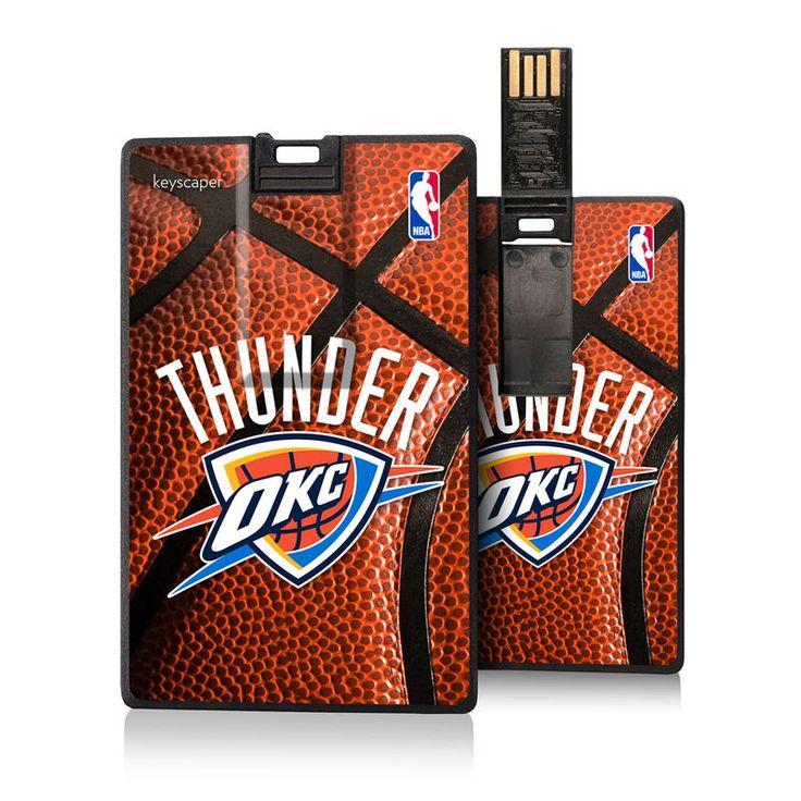 Oklahoma City Thunder 8GB USB Basketball Credit Card Flash Drive