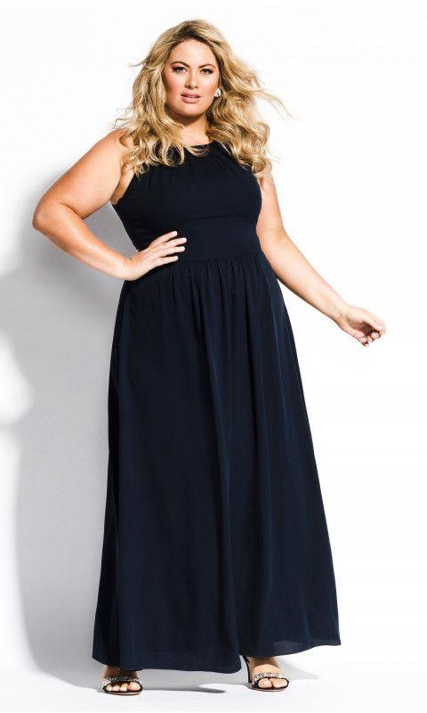 e9087de006e Shop Women s Plus Size Devotion Maxi Dress - navy - New