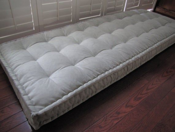 Custom Cushions Gray Velvet Cushion French Mattress Quilting