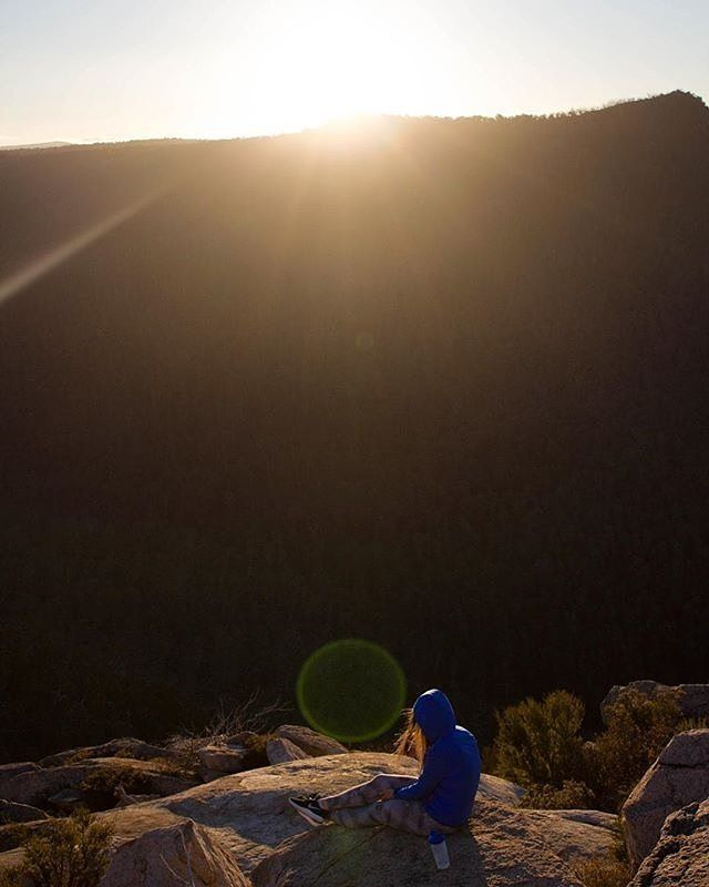 """For anyone that hasn't been to Booroomba Rocks in the Namadgi National Park yet Instagrammer @urban_and_coke strongly suggest giving yourself """"a whole day to drive out, walk, and just chill there! Go by yourself or with friends but make sure you stay for sunset!"""" #visitcanberra #onegoodthingafteranother"""
