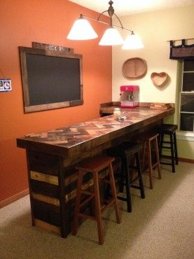 http://www.thegoodstuffguide.com/basement-snack-bar-from-old-pallets/