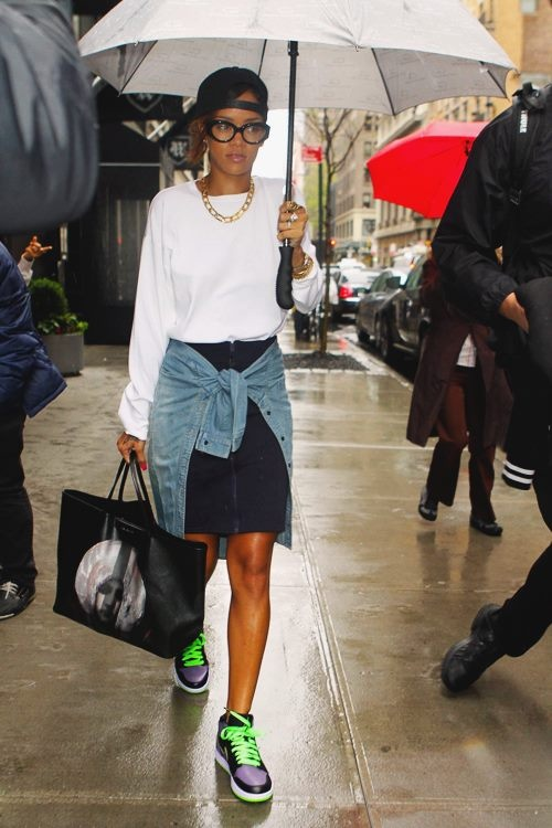 outstanding rihanna street outfits