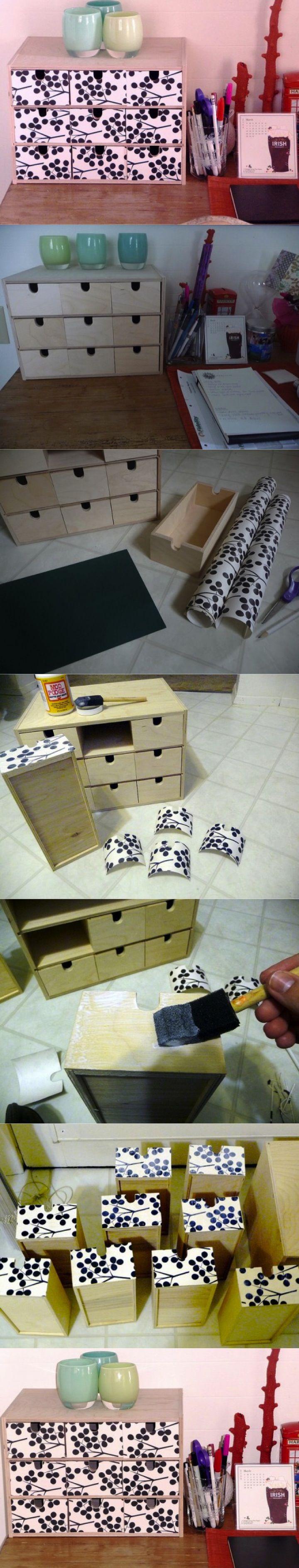 DIY IKEA Desk Box Organizer