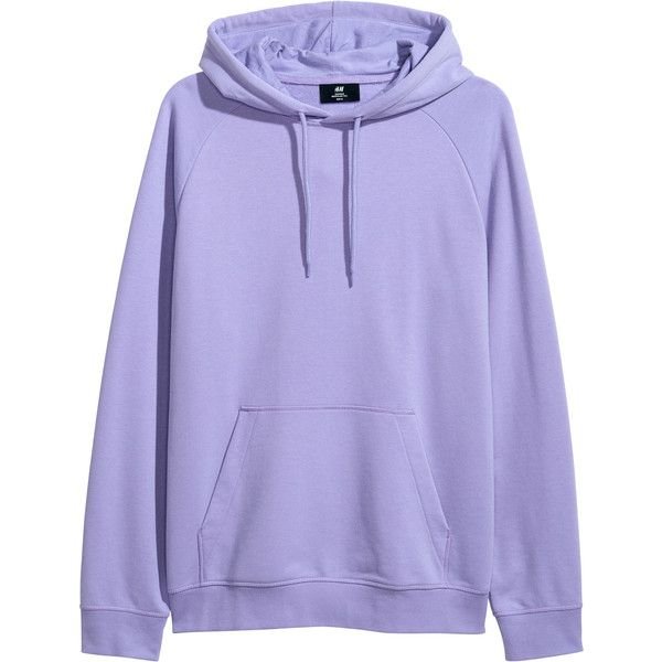 4ed965f14 H&M Hooded top with raglan sleeves ($25) ❤ liked on Polyvore featuring  tops, hoodies, ribbed top, purple hoodies, long length tops, long tops and  long ...
