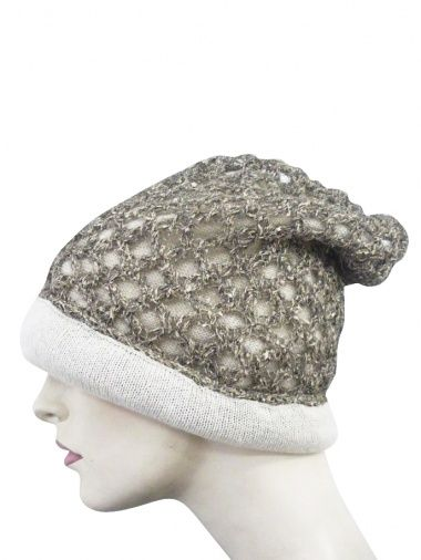 Designer: Domingo Rodriguez    Item: Beret    Composition: 36% Polyurethane 32% Wool Mohair 32% Nylon    Made in Italy    Description:      Beret in mixed fibre, open-worked, lining with clashing wool.      > Need Help?    Price $ 205.00 $103.00    Discount: -50%