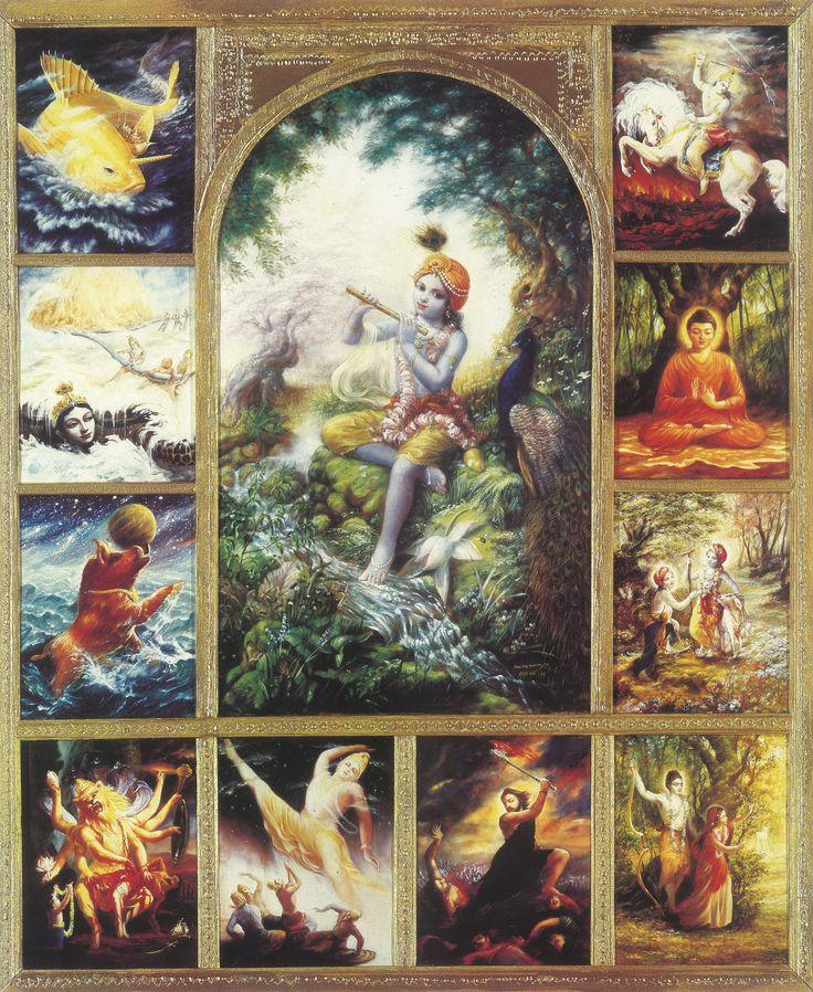 Dashavatara ( in sanscrito : दशावतार, Dasâvatâra) si riferisce ai dieci avatar di Vishnu , il dio indù della conservazione. Vishnu si dice ascendere sotto forma di un avatar per ristabilire l'ordine cosmico. L'elenco dei Dashavatara varia tra sette e le regioni. La lista standard è la seguente: Matsya , Kurma , Varaha , Narasimha , Vamana , Parashurama , Rama , Krishna , Buddha e Kalki . A volte, Krishna sostituisce Vishnu come la fonte di tutti gli avatar