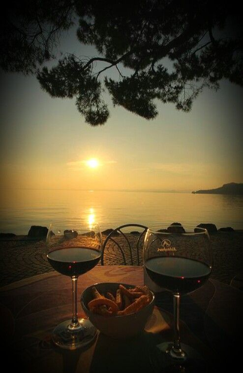 The perfect triangle: The sunset, you and  me. ..